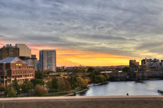 Boston from the Bridge (HDR)