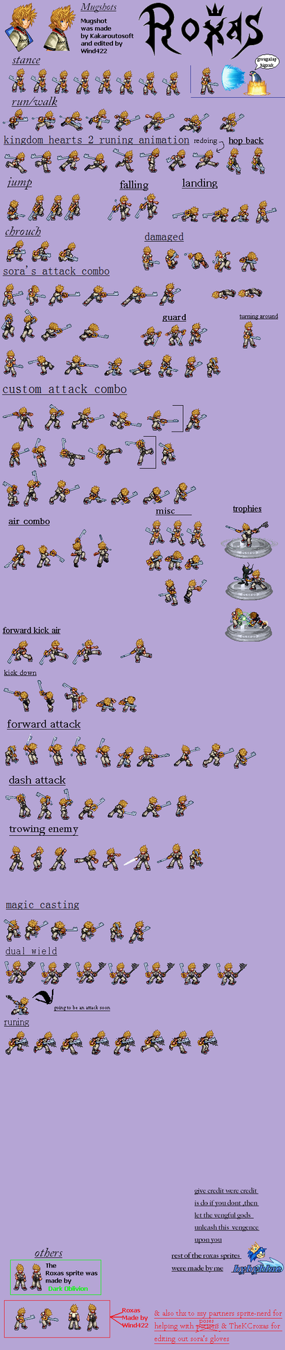 roxas battle sprites by bybyblue