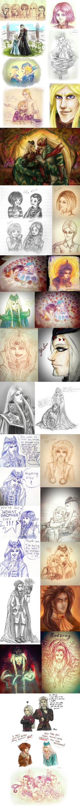 W.I.T.C.H. doodles by MiKeiLo