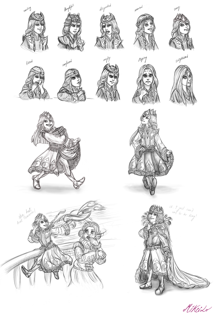 Little Prince Phobos sketches by MiKeiLo