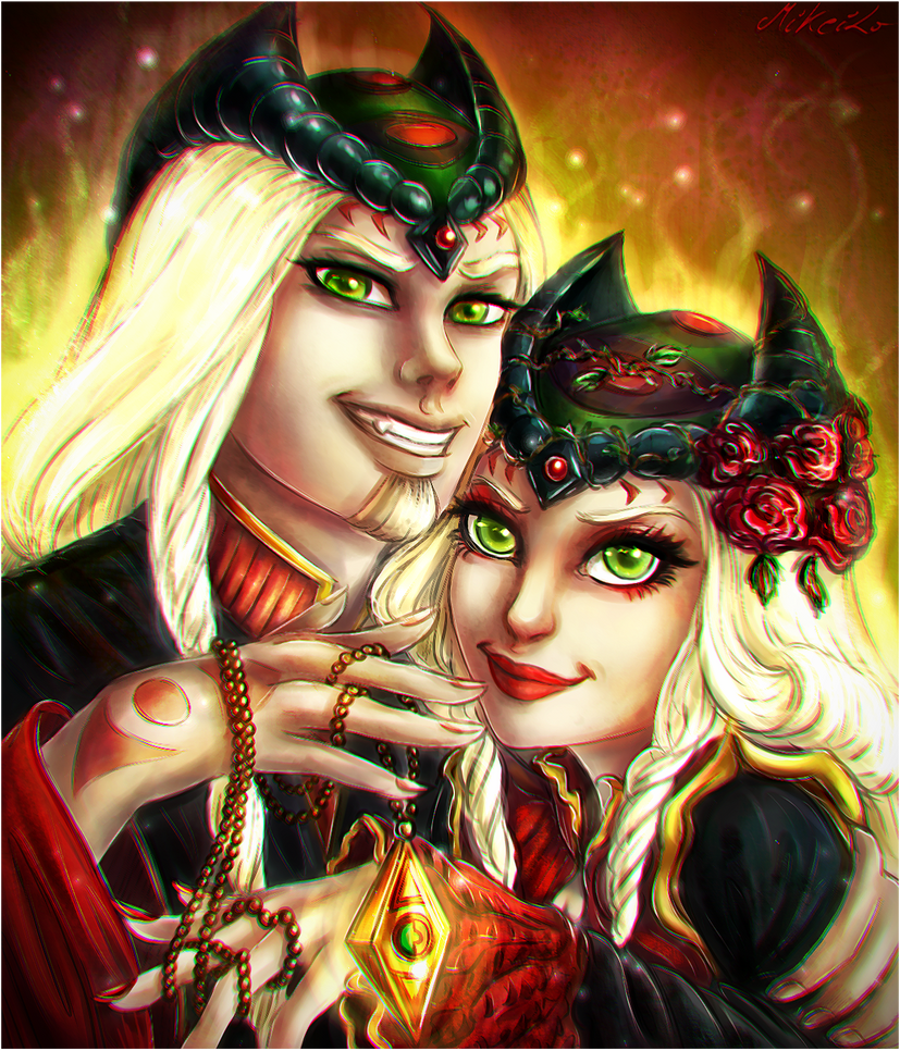 Phobos and Phoebe by MiKeiLo