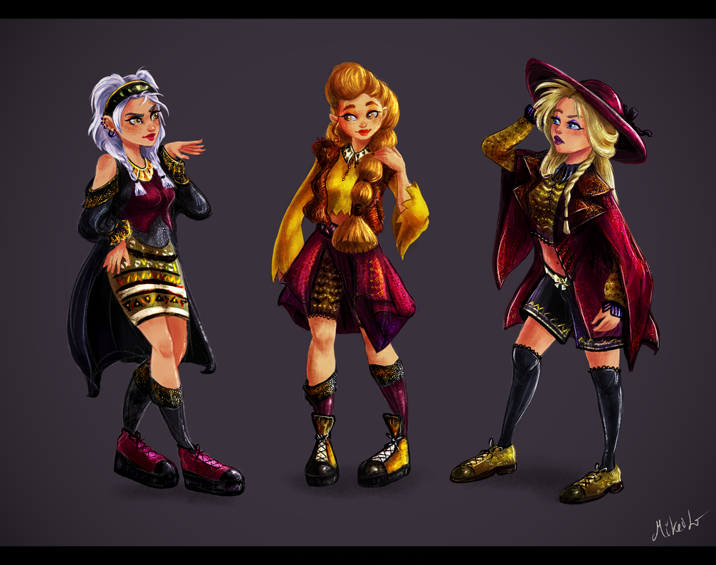 Urban girls character designs by MiKeiLo