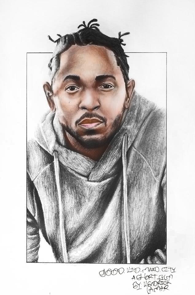 Kendrick Lamar A3 Portrait by natsutsunablackstar