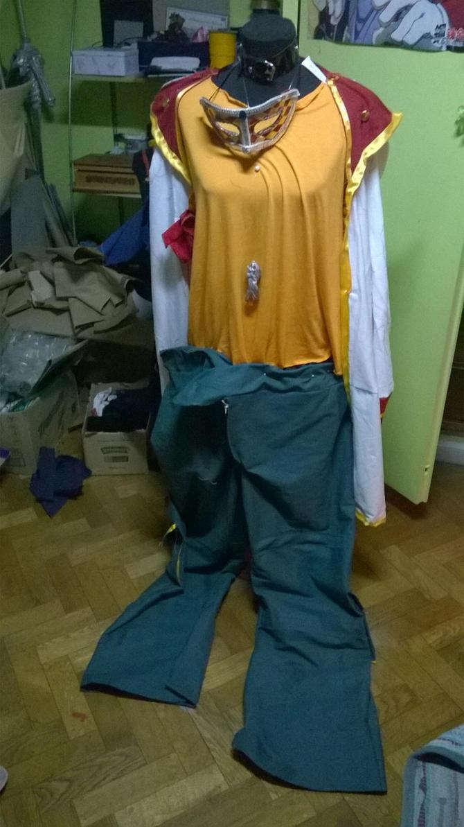 Yuya's cosplay in process by Die-Rose