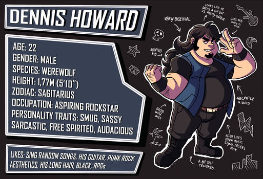 Character Profile - Dennis by Takeuchi15