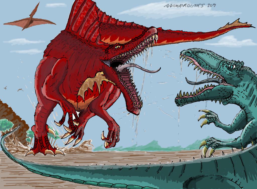SPINOSAURUS VS. GIGANOTOSAURUS-2013 Drawing contest winner