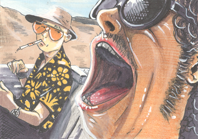 one toke over the line ACEO by sinj