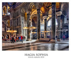 Inside of Hagia Sophia by petted