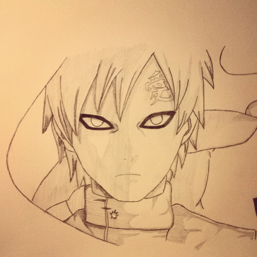 Gaara Of The Sand  Drawing by CiroGab on DeviantArt