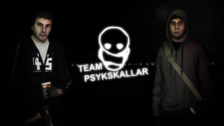 Team Psykskallar Background Poster by andrevalentimcuncev
