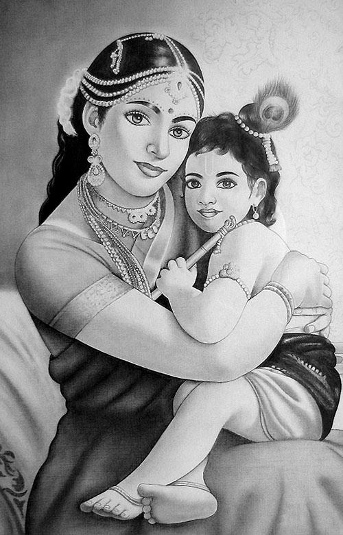 Krishna and yashoda by visualxscape