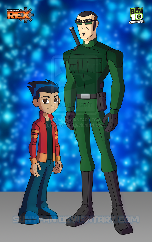 Rex and Six - Ben 10 Omniverse style by SunyFan
