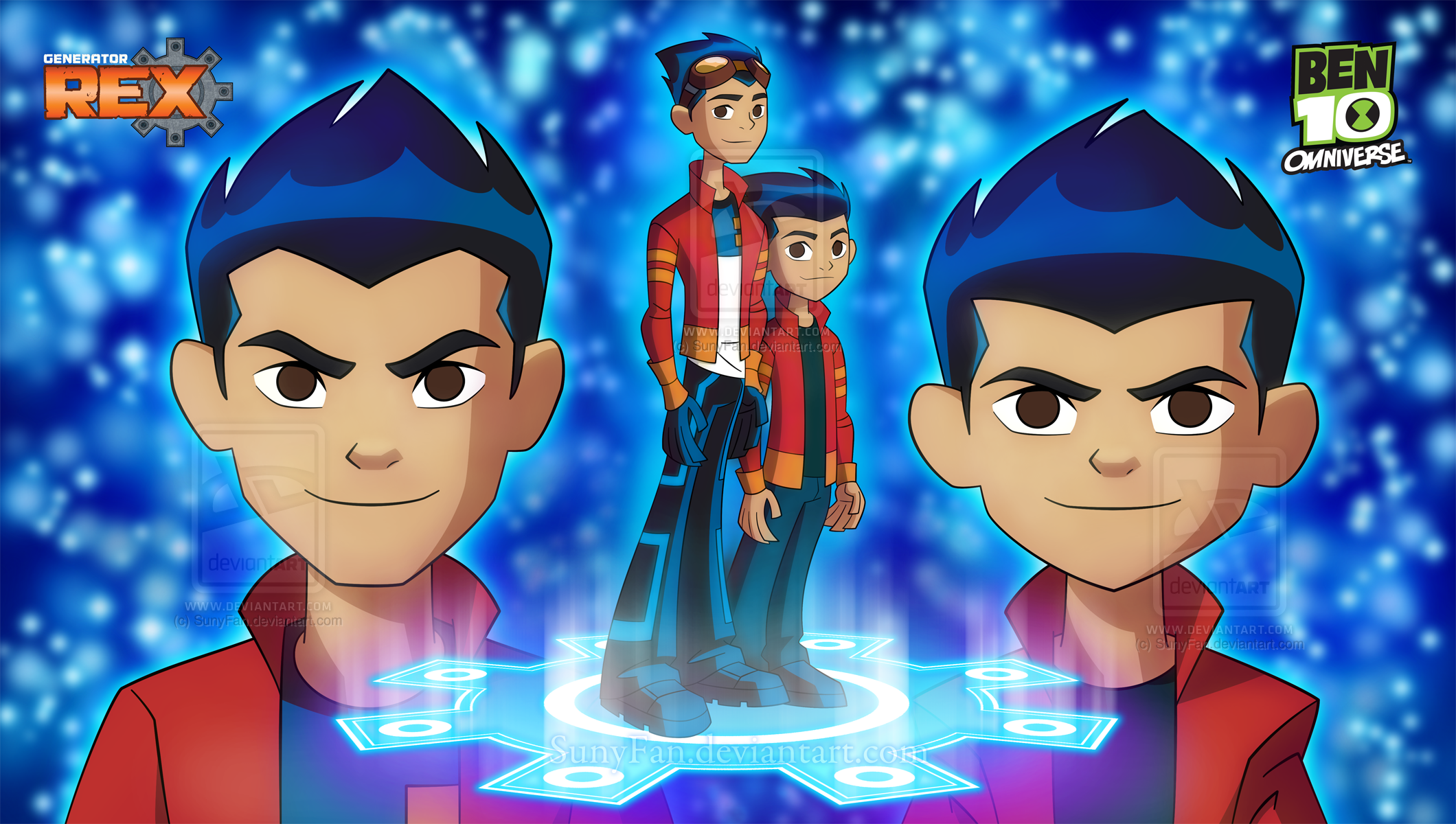 Grown and Little Rex Salazar - Omniverse Style by SunyFan