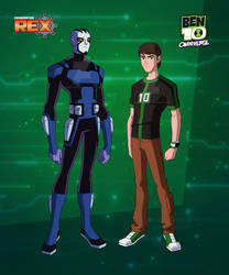 Rook and Ben in Generator Rex style by SunyFan