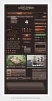 Dark Amber UI a Web User Interface Kit