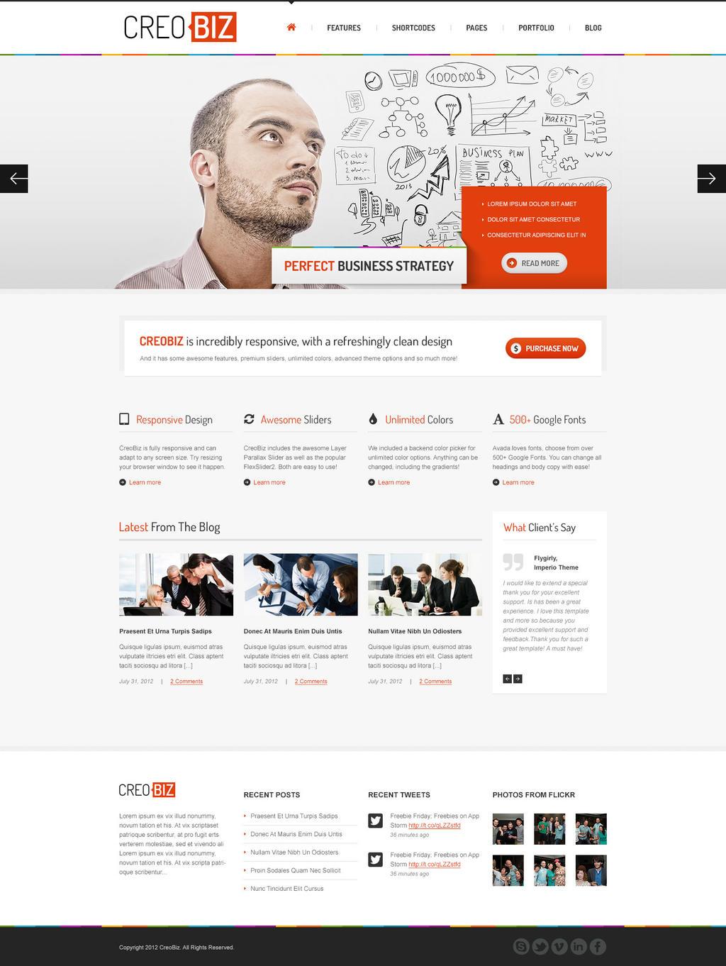 CreoBIZ a creative Corporate Website Template by the-webdesign on ...