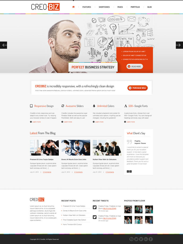 CreoBIZ a creative Corporate Website Template by the-webdesign on ...