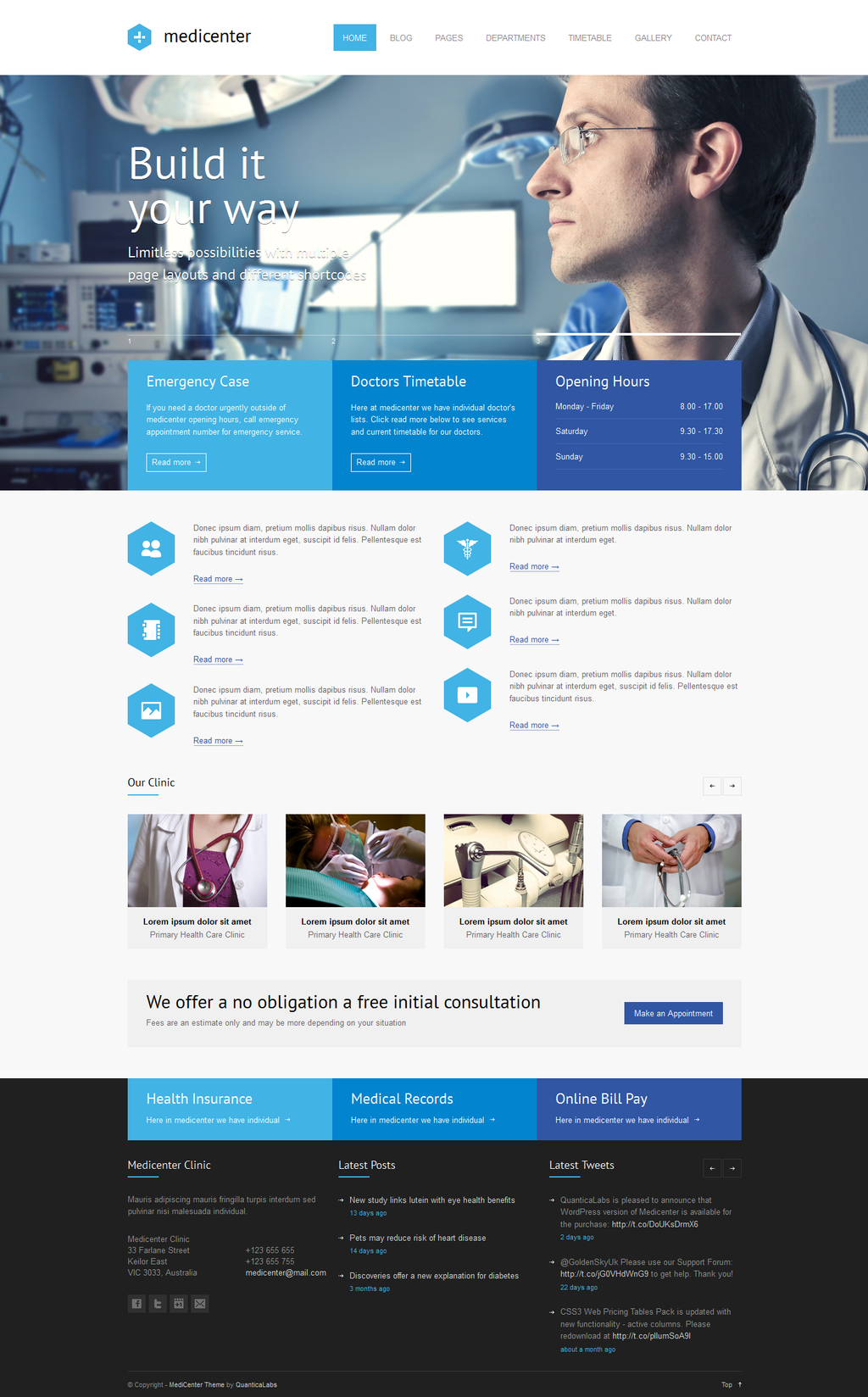 MediCenter a Responsive Medical WordPress Theme by the webdesign on oNMK52x4