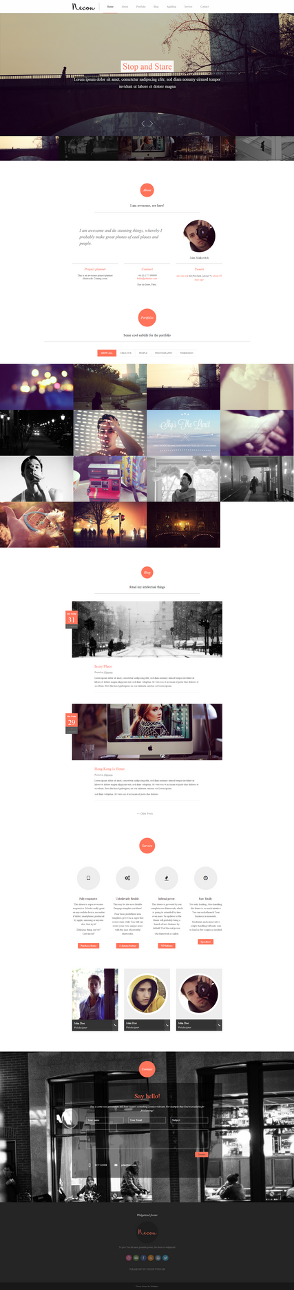 Necon a Responsive Onepage Wordpress Theme by the-webdesign