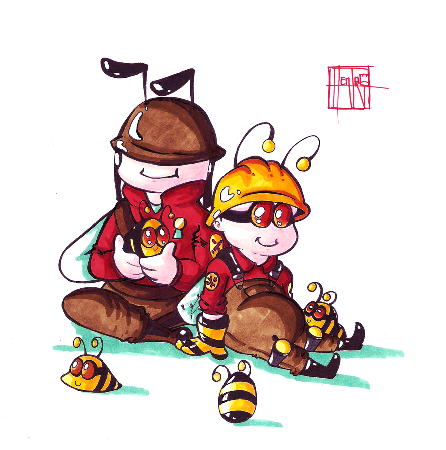 Engibee and Solly by HenryJDoe