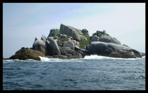 Island On Blue Sky and Sea by bibiana-tenebra