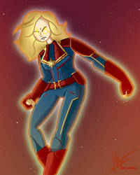 Captain Marvel by harrisonb32