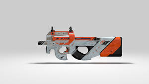 CSGO P90 Asiimov Render Wallpaper with Dust