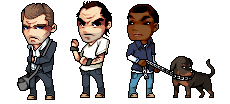 GTA Sprites Michael, Trevor, Franklin, and, Chop by HappyFaceMM