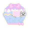 Nyan Cat Pastel Cupcake by MuffinzLove