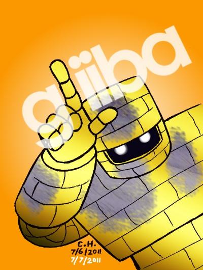 Gleeba, gold-plating-man by Cesar-Hernandez