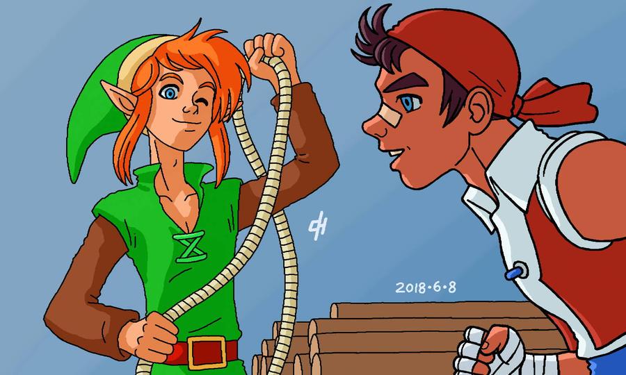 Let me have that rope, please! by Cesar-Hernandez