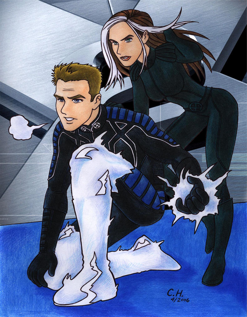 x men iceman and rogue meet
