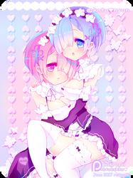 [SFW / YURI] Rem and Ren