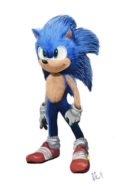Sonic Movie Redesign By Nikcoldsneak On Deviantart