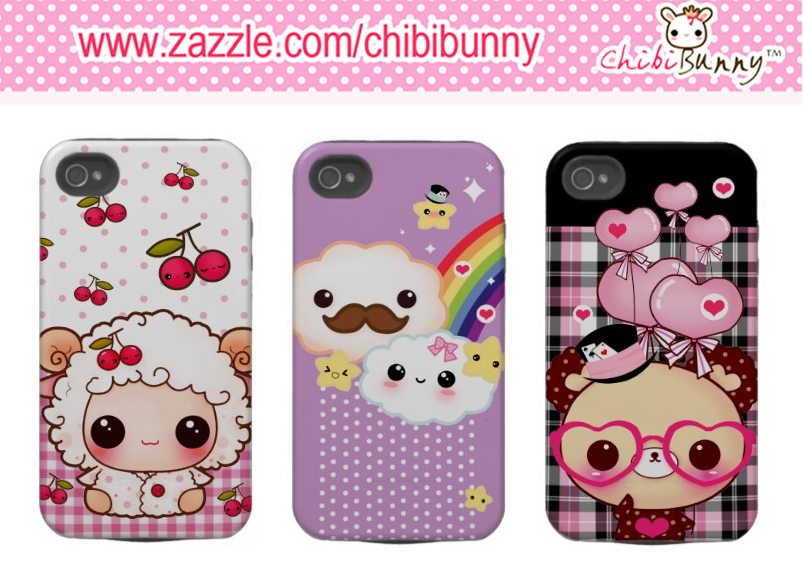 Cute Iphone 4 4s Cases By BunnyAndI