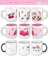 Kawaii mugs by BunnyAndI