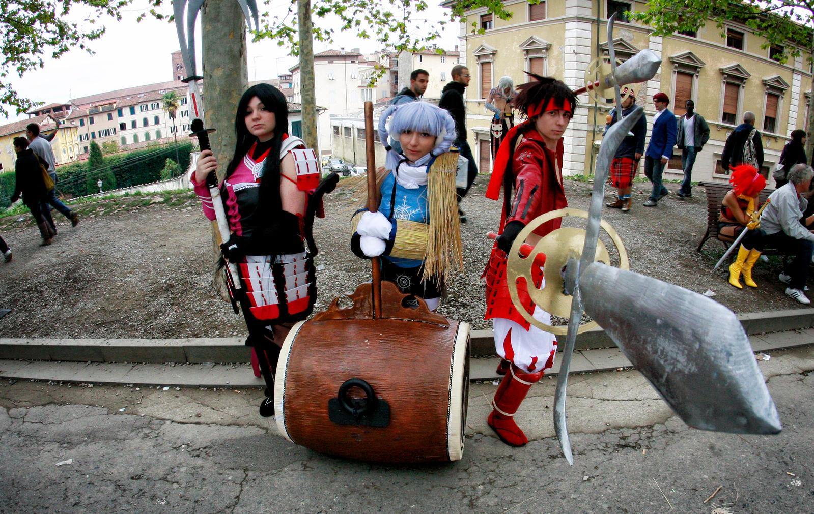 Sengoku basara group (Lucca 2012) by ShuzaCosplay