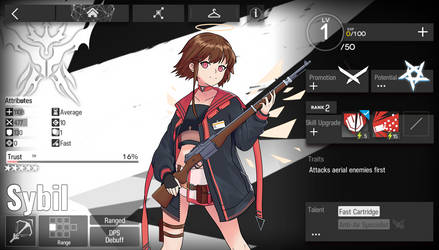 [Arknights] Sybil in-game page
