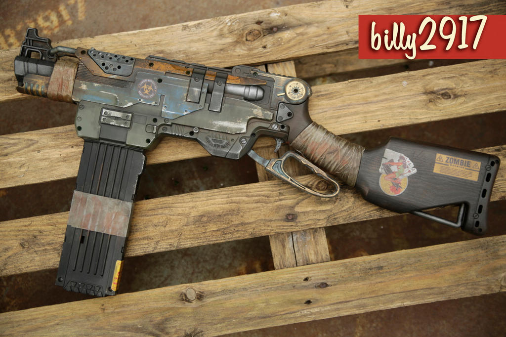nerf slingfire zombie custom by billy2917 ...