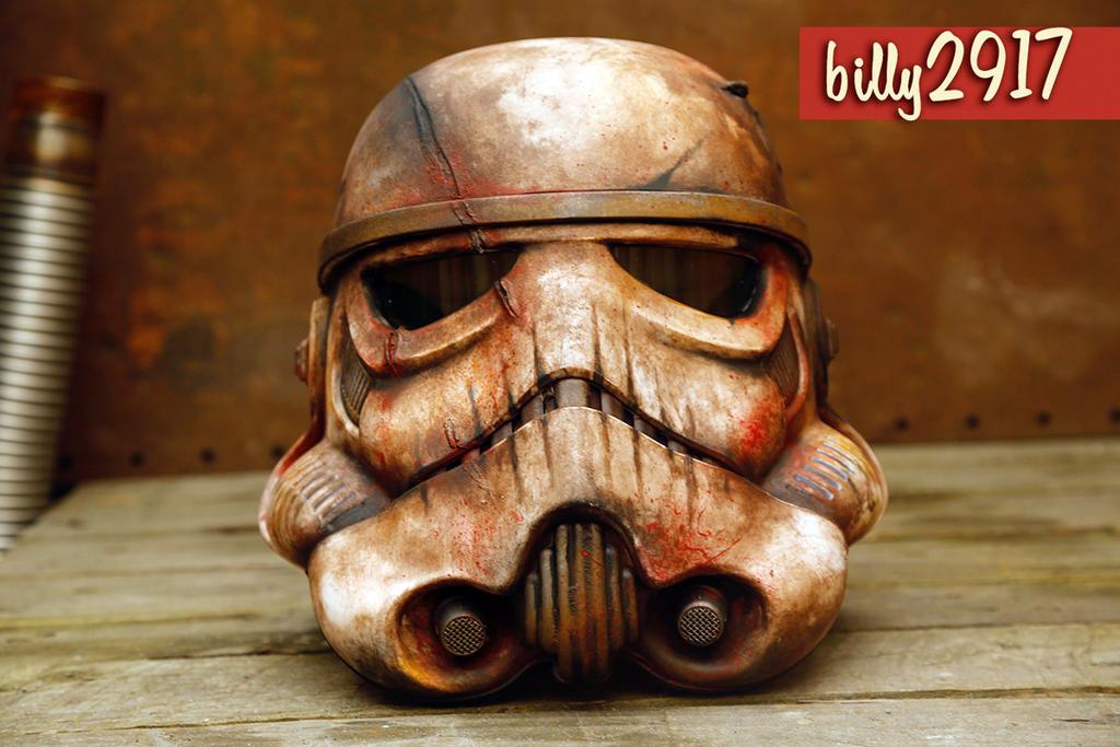 stormtrooper zombie helmet by billy2917
