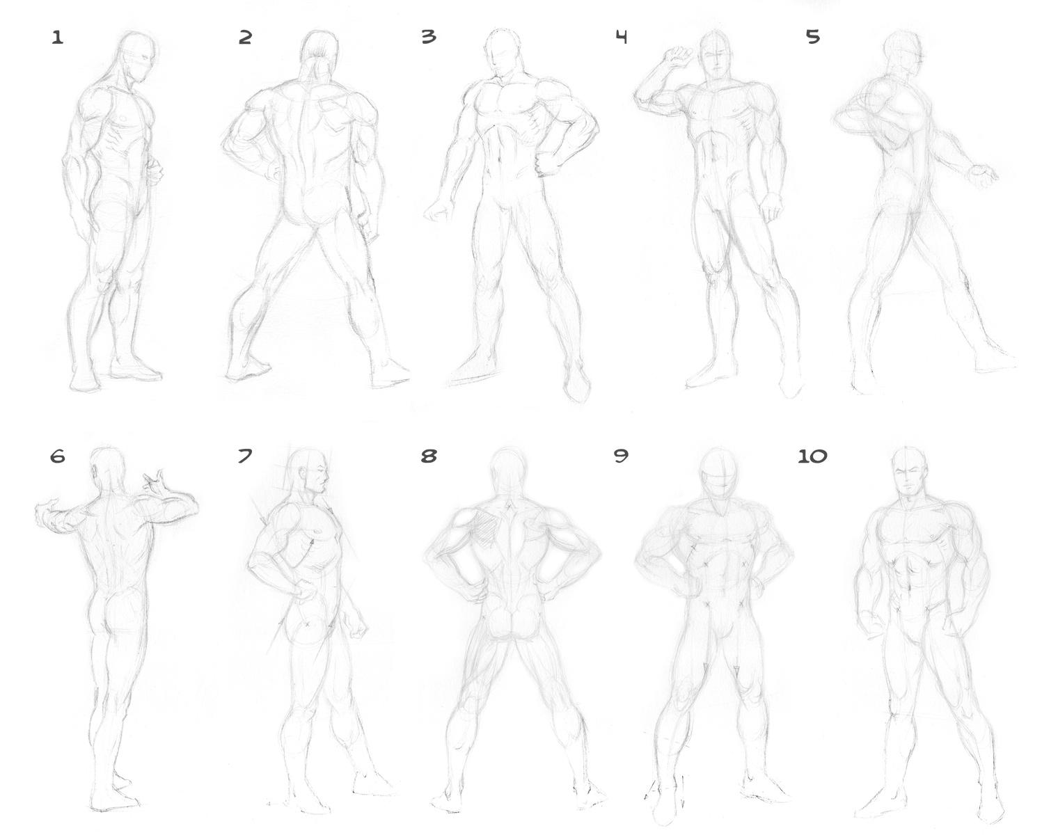 anime male poses