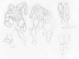 More Batman studies - Running poses by Almayer