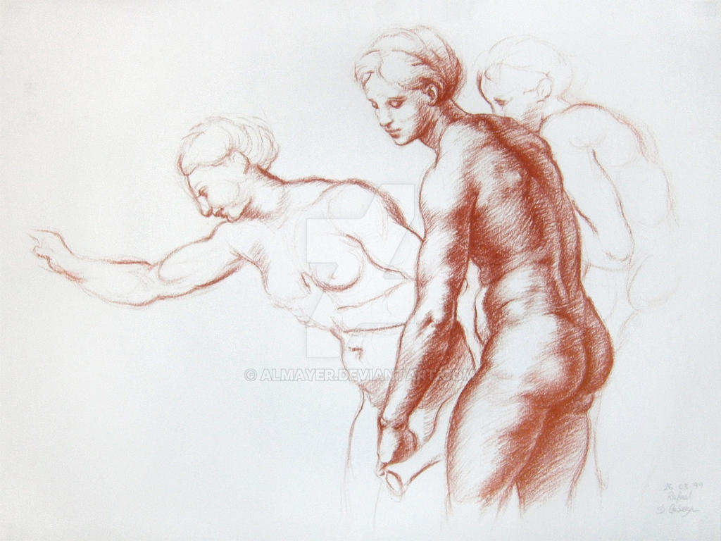 Copy from Raphael's Three Graces sketch by Almayer
