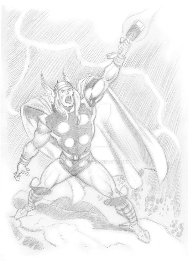 Studying Buscema - Thor II by Almayer