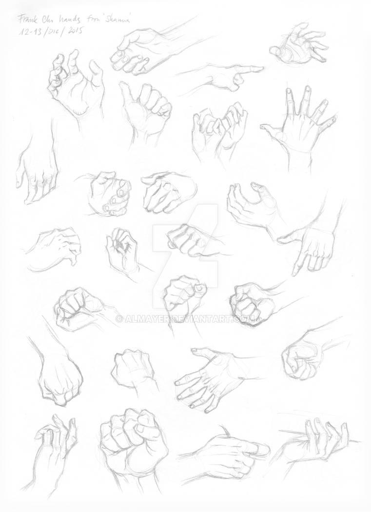 Studies of hands - Frank Cho by Almayer on DeviantArt