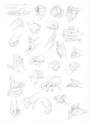 Studies of hands - Garcia-Lopez