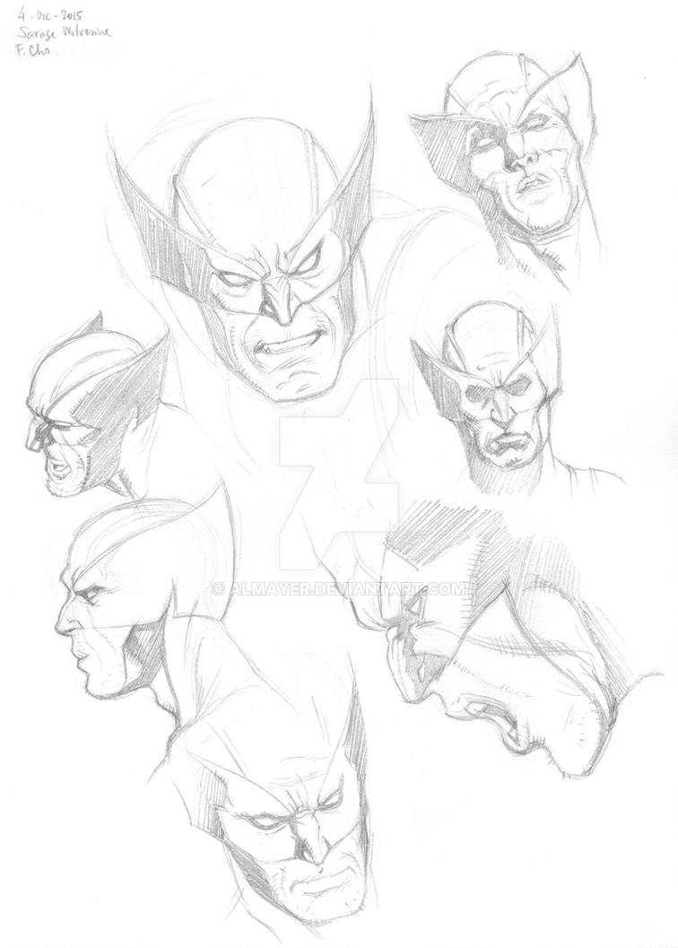 Wolverine Faces from Cho's Savage Wolverine by Almayer