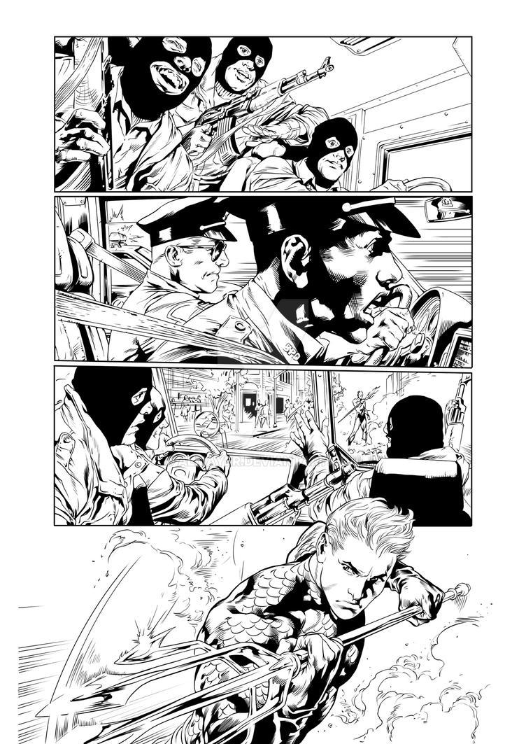 Inking Reis - Aquaman by Almayer