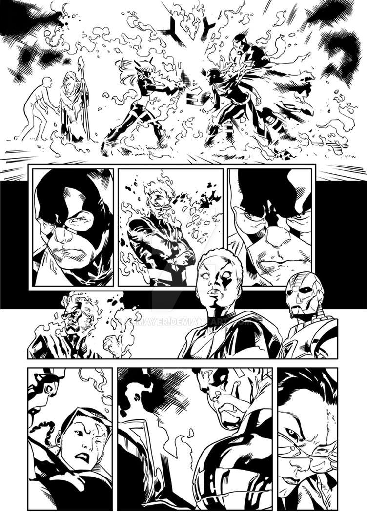 Inking Immonen - All New X-Men by Almayer