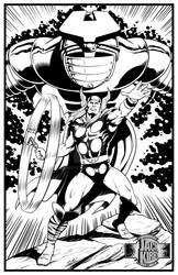 Thor for J. Kirby Tribute at penciljack.com - Inks